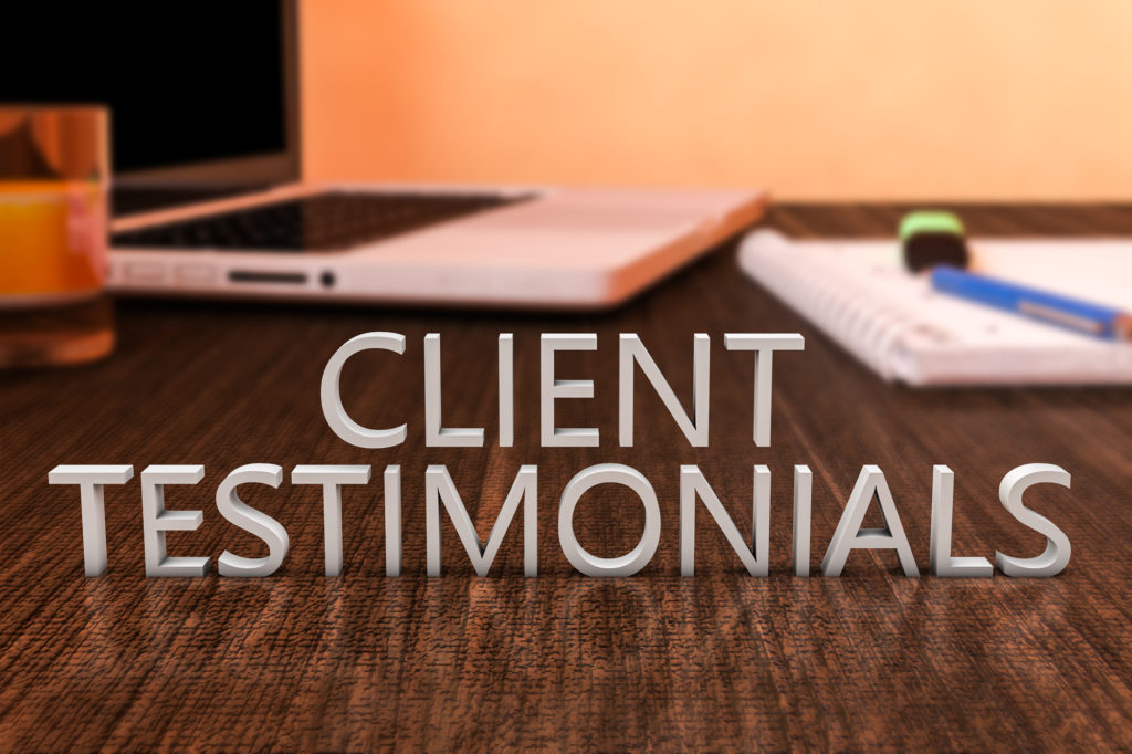 Ghostwriting client testimonials