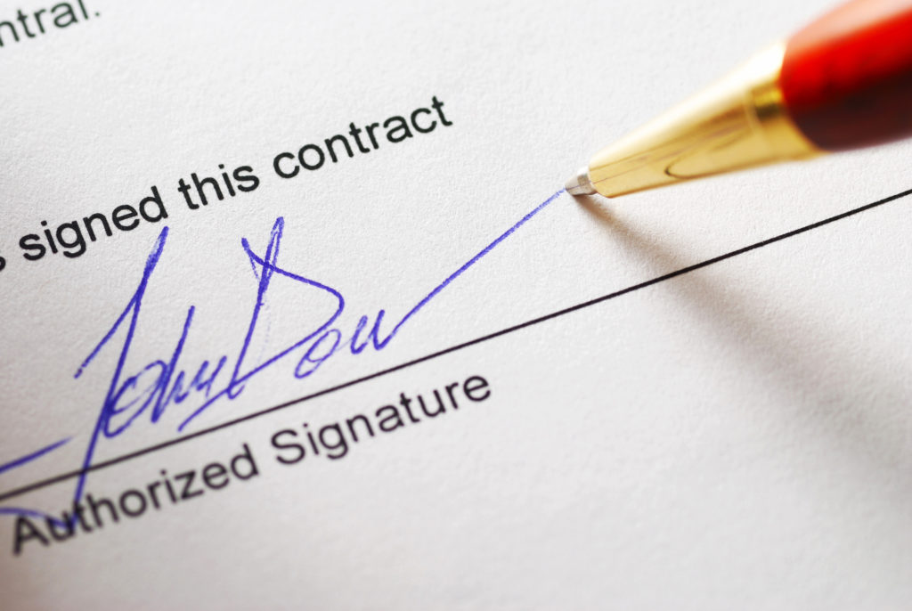 Always work with a ghostwriting contract