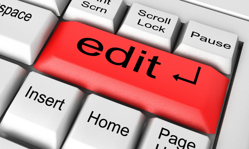 Edit your book