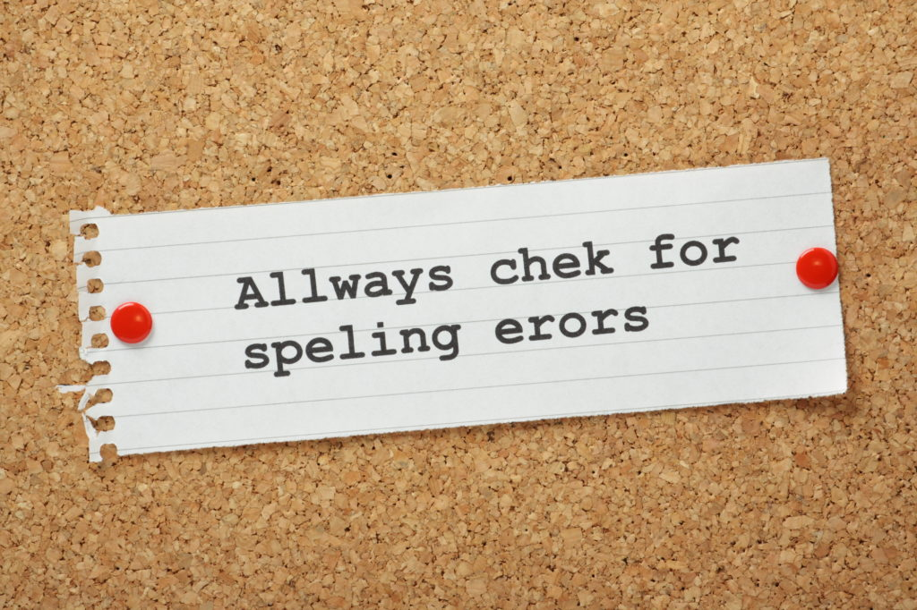 Proofreading is part of editing