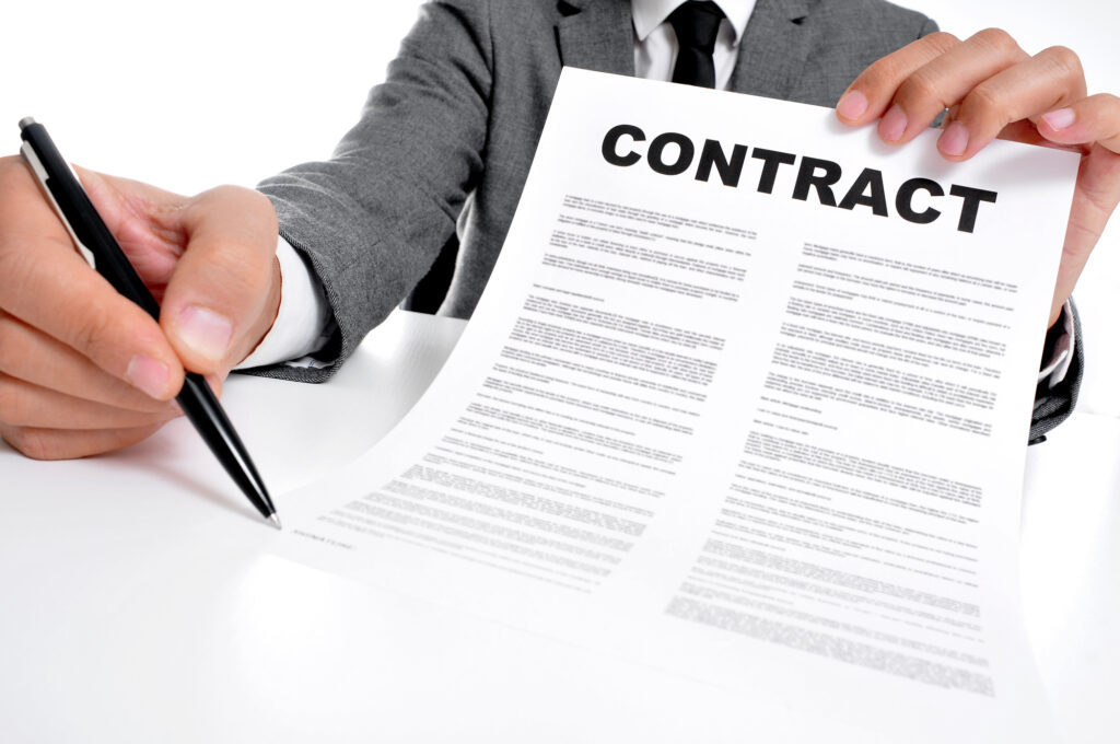 when you work with a ghostwriter have a good contract